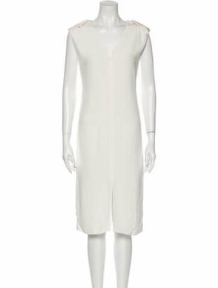 Lanvin V-Neck Midi Length Dress