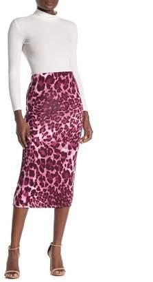 Velvet Torch Animal Print Tube Skirt
