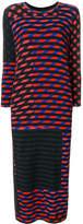Henrik Vibskov Beat Dress Crazy Stripes Print dress