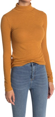 Know One Cares Ribbed Long Sleeve Turtleneck Top