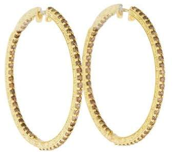 Penny Preville 18K Diamond Hoop Earrings