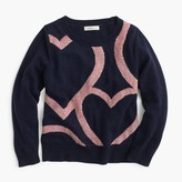 J.Crew Girls' abstract heart popover sweater