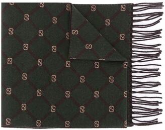 Gucci GG wool-silk blend scarf