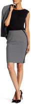 Nine West Two-Tone Knit Pencil Skirt