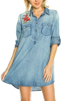 En Creme Denim Embroidered Tunic