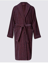 M&s Essentials Pure Cotton Long Sleeve Dressing Gown