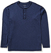 Roundtree & Yorke Soft Washed Long-Sleeve Slub Henley Tee