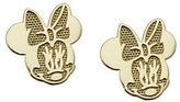 Disney Minnie Mouse Stud Earrings, 14K Gold
