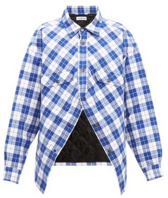 Balenciaga Swing Canadian Checked Cotton-flannel Shirt - Womens - Blue