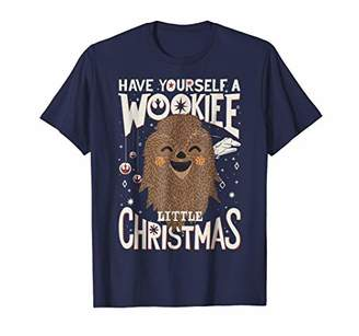 Star Wars Wookiee Little Christmas Sketched Graphic T-Shirt