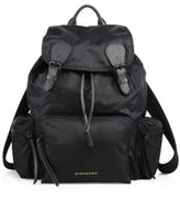 Burberry Calf Leather Trimmed Large Rucksack