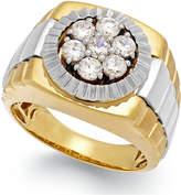 Macy's Men's Diamond Two-Tone Ring in 10k Gold (1 ct. t.w.)