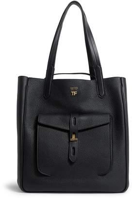 Tom Ford Leather T Twist Shoulder Bag