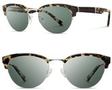 Shwood Women's 'Hayden' 53Mm Acetate & Wood Sunglasses - Black/ Silver/ Grey