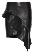 Saint Laurent Asymmetric Leather Skirt