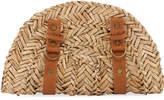 San Diego Hat Company Seagrass Zip-Around Clutch Bag, Neutral Pattern
