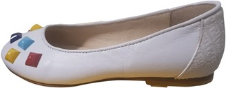 Fendi White Leather Ballet flats