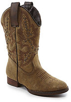 Volatile Stunner Girls' Metallic Intricately Stitched Pull On Western Boots