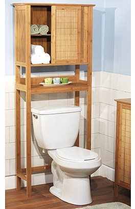 Bamboo Over the Toilet Bathroom Storage Space Saver