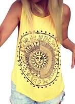Imixshop Women Workout Printing Vest Tops T Shirt Fitness Yoga Burnout Racerback Tank Top (XL: 8/10, )