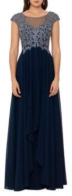Xscape Evenings Ruffled Embellished Gown