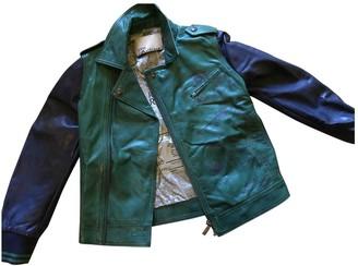 John Galliano Blue Leather Jackets & Coats