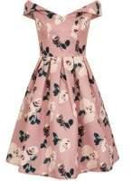 Dorothy Perkins Womens *Chi Chi London Pink Floral Bardot Dress- Pink
