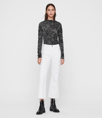 AllSaints Francesco Leo Roll Neck Top