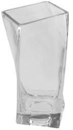 "Northlight 7.75"" Dual Purpose Twisted Rectangular Transparent Glass Tea Light Candle Holder"