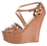 Alaia Laser Cut Wedge Sandals