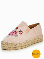 Very Marigold Embroidered Espadrille - Nude