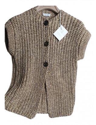Brunello Cucinelli Beige Cotton Knitwear