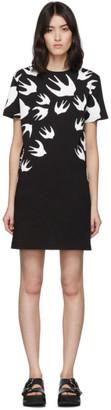 McQ Black and White Swallow T-Shirt Dress