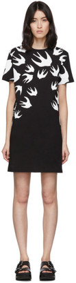 McQ Black and White Swallow T-Shirt Dress