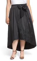 Eliza J High/Low Taffeta Ball Skirt (Plus Size)