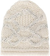 Ermanno Scervino embroidered beanie hat