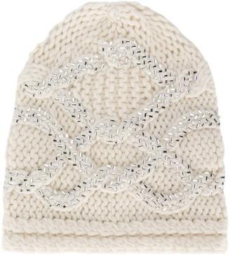 Ermanno Scervino Embroidered Beanie Hat
