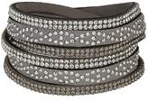 Apricot Black & Silver Studded Wrap Around Bracelet