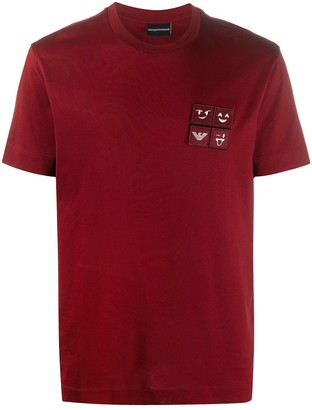 Emporio Armani short-sleeved logo patch T-shirt
