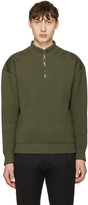 Jil Sander Green Shoulder Patch Sweater