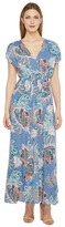Brigitte Bailey Jamya Cap Sleeve Printed Maxi Dress Women's Dress