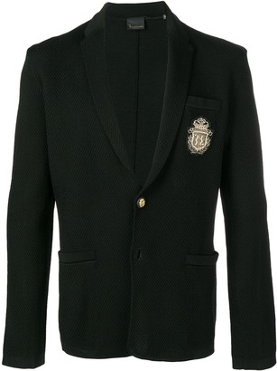 Billionaire logo patch blazer