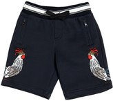 Dolce & Gabbana Rooster Print Cotton Shorts