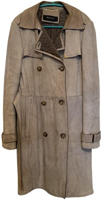 Gucci Grey Shearling Coat for Women Vintage