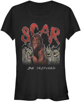 Fifth Sun Disney Women The Lion King Scar Hyenas Short Sleeve Tee Shirt