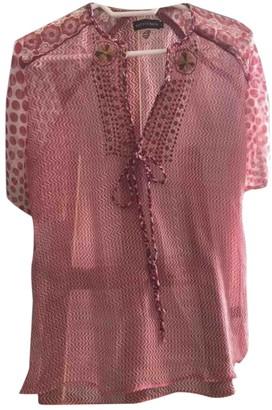 Antik Batik Red Silk Top for Women
