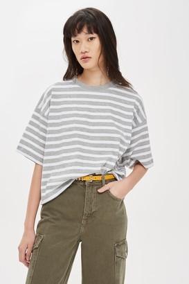 Topshop Striped Boxy T-Shirt