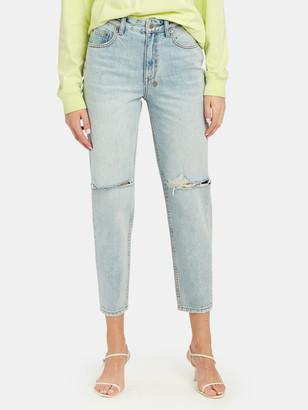 Ksubi Pointer Karma Slash High Rise Straight Leg Jean