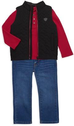 Buffalo David Bitton Little Boy's 3-Piece Vest, Shirt & Jeans Set