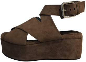 Alexander Wang Brown Suede Sandals